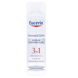 Eucerin Dermatoclean Cleaning micellar water 3 in 1 micelinis vanduo visų tipų odai 200 ml.