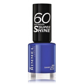Rimmel 60 Seconds Super Shine Nail Polish greitai džiūstantis nagų lakas 828 Danny Boy, Blue! 8 ml.