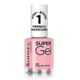 Rimmel Super Gel French Manicure Nail Polish nagų lakas 12 ml. 091 English Rose