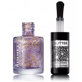 Rimmel Glitter Top Coat žvilgantis viršutinis nagų lako sluoksnis 8 ml. 010 Sparkle Every Day