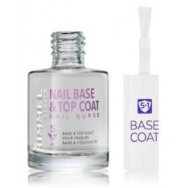 Rimmel Nurse Nail Base & Top Coat 5in1 nagus stiprinanti priemonė 12 ml.
