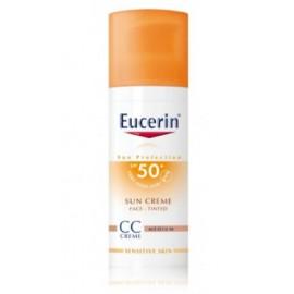 Eucerin  Sun CC Creme SPF 50+ kremas nuo saulės su atspalviu (Medium Dark)