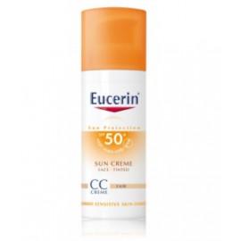 Eucerin  Sun CC Creme SPF 50+ kremas nuo saulės su atspalviu (Light )