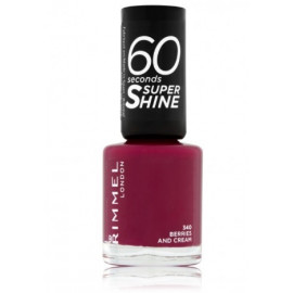 Rimmel 60 Seconds Super Shine Nail Polish greitai džiūstantis nagų lakas340 Berries and Cream 8 ml.