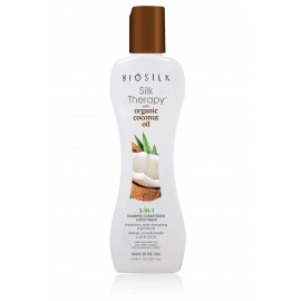 Biosilk Silk Therapy with Organic Coconut Oil 3 in 1 šampūnas- kondicionierius- kūno prausiklis 167 ml.