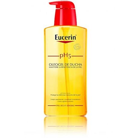Eucerin Lipid-replenishing pH5 Shower Oil aliejaus pagrindo prausiklis sausai odai 400 ml.