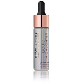 Makeup Revolution Liquid Highlighter švytėjimo suteikianti priemonė 18 ml. Unicorn Elixir