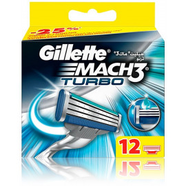 Gillette Mach3 Turbo skustuvo galvutės