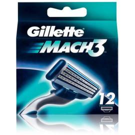 Gillette Mach3 skustuvo galvutės 12 vnt.
