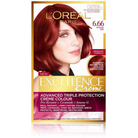 Loreal Professionnel Excellence Creme plaukų dažai 6.66 Intense Red