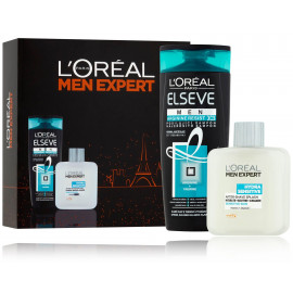 Loreal Paris Men Expert rinkinys vyrams (šampūnas + losjonas jautriai odai)