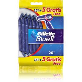 Gillette Blue II vienkartiniai skustuvai 20 vnt.