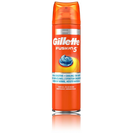 Gillette Fusion 5 Ultra Sensitive + Cooling skutimosi želė  vyrams 200 ml.