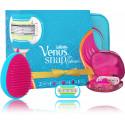 Gillette Venus Snap With Embrace rinkinys moterims (skustuvas + 2 vnt. keičiamos galvutės + plaukų šepetys + kosmetinė)