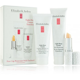 Elizabeth Arden Eight Hour All In One rinkinys (75 ml. rankų kemas + 50 ml. universalus kremas + 3. 7 ml. lūpų balzamas)