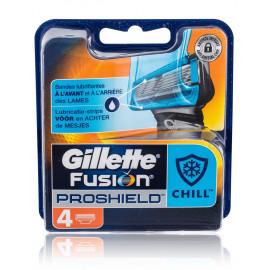 Gillette Fusion ProShield Chill skustuvo galvutės 4 vnt.