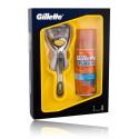 Gillette Fusion ProShield skutimosi priemonių rinkinys vyrams (Skustuvas + 75 ml. skutimosi gelis)