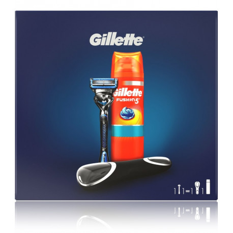 Gillette Fusion ProShield rinkinys vyrams (skustuvas + gelis + dėklas)