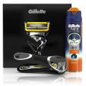 Gillette Fusion ProShield rinkinys vyrams (skustuvas + 170 ml. skutimosi gelis 2in1 + dėklas)
