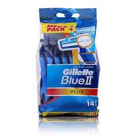 Gillette Blue II Plus vienkartiniai skustuvai 14 vnt.