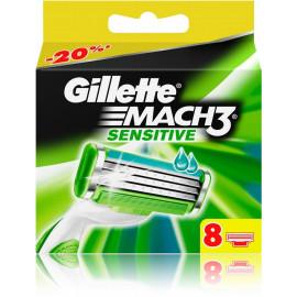 Gillette Mach3 Sensitive skustuvo galvutės 8 vnt.