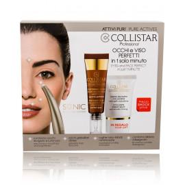 COLLISTAR Pure Actives Eye Contour Hyaluronic Acid + Peptides rinkinys veido priežiūrai (15 ml. paakių serumas + 15 ml. veido kremas + priežiūros prietaisas)