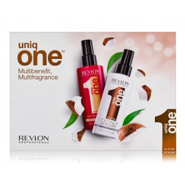 Revlon Uniq One daugiafunkcių priemonė plaukų puoselėjimui rinkinys (2 x 150 ml.)