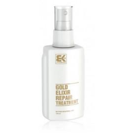 Brazil Keratin Gold Elixir Repair Treatment priemonė sausiems, pažeistiems plaukams 100 ml.