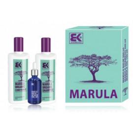 Brazil Keratin Marula Gift set rinkinys plaukams su Marula aliejumi (šampūnas+ kondicionierius+ aliejus) 700 ml.
