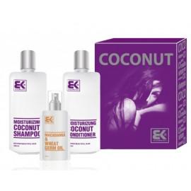 Brazil Keratin Moisturizing Coconut Set rinkinys labai sausiems plaukams (šampūnas+ kondicionierius+ aliejus) 700 ml.