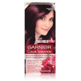 Garnier Color Sensation Intense Permanent Colour Cream ilgalaikiai plaukų dažai 3.16 Deep Amethyst