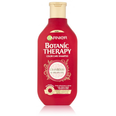 Garnier Botanic Therapy Cranberry & Argan Oil šampūnas dažytiems plaukams 400 ml.
