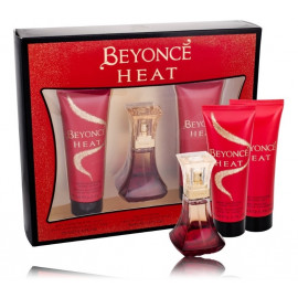 Beyoncé Heat rinkinys moterims (30 ml. EDP + losjonas 75 ml. + gelis 75 ml.)