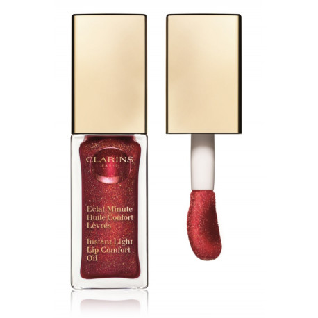 Clarins Eclat Minute Instant Light Lip Comfort Oil aliejus lūpoms su atspalviu 7 ml. 09 Red Berry Glam