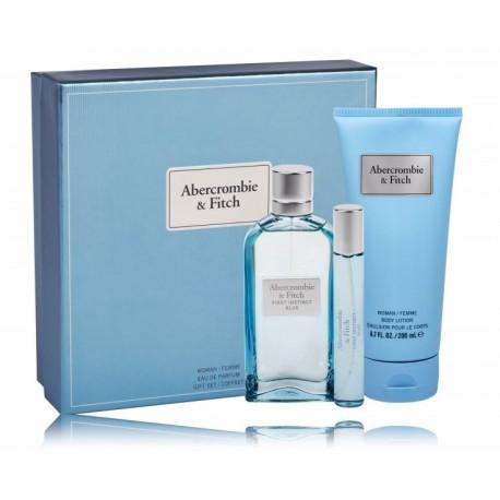 Abercrombie & Fitch First Instinct Blue for Her rinkinys moterims (100 ml. EDP + 15 ml. EDP + kūno losjonas 200 ml.)