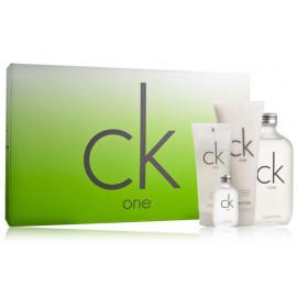 Calvin Klein CK One rinkinys vyrams/moterims (200 ml. EDT + 200 ml. kūno losjonas + 100 ml. dušo gelis + 15 ml. EDT)