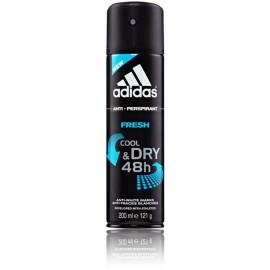 Adidas Fresh Cool & Dry 48H purškiamas antiperspirantas vyrams 200 ml.