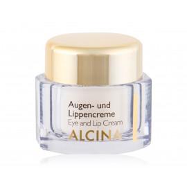 Alcina Eye and Lip Cream drėkinantis paakių ir lūpų odą kremas 15 ml.
