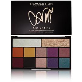 Makeup Revolution X Carmi akių šešėlių paletė 27 g. Kiss Of Fire