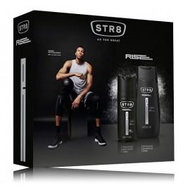 STR8 Rise rinkinys vyrams (250 ml. dušo gelis + 75 ml. purškiamas dezodorantas)