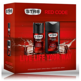 STR8 Red Code rinkinys vyrams (75 ml. dezodorantas + 250 ml. dušo gelis)