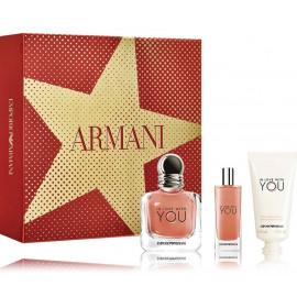 Emporio Armani In Love With You rinkinys moterims (50 ml. EDP + 15 ml. EDP + 50 ml. rankų kremas)