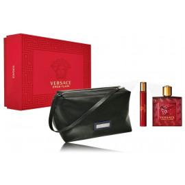 Versace Eros Flame for Men rinkinys vyrams (100 ml. EDP + 10 ml. EDP + kosmetinė)