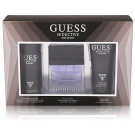 Guess Seductive rinkinys vyrams (100 ml. EDT + 200 ml. dušo želė + 170 g. purškiamas dezodorantas)