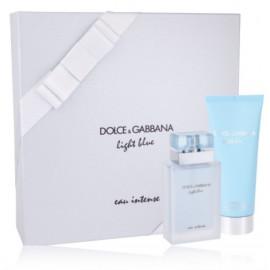 Dolce & Gabbana Light Blue Eau Intense rinkinys moterims (50 ml. EDP + 100 ml. kūno kremas)
