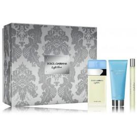 Dolce & Gabbana Light Blue rinkinys moterims (100 ml. EDT + 10 ml. EDT + 75 ml. kūno losjonas)