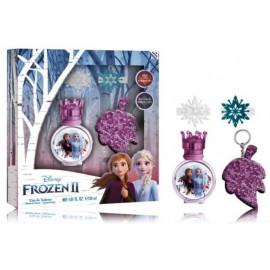 Disney Frozen II rinkinys mergaitėms (30 ml. EDT + raktų pakabukas + 2 vnt. plaukų segtukų)