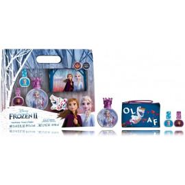 Disney Frozen II rinkinys mergaitėms (50 ml. EDT + 2 x 5 ml. nagų lakai + kosmetinė)