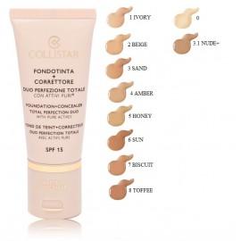 COLLISTAR Foundation + Concealer Total Perfection makiažo pagrindas ir maskuoklis 30 ml.