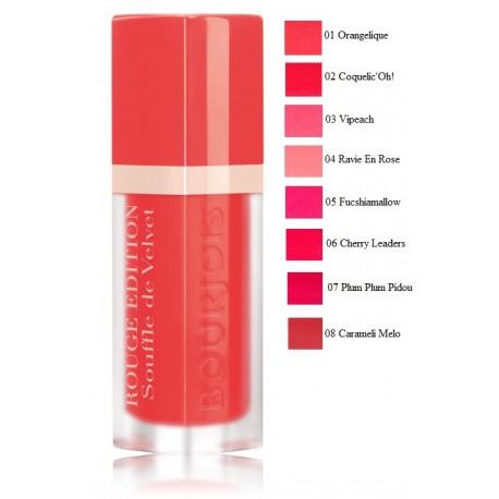 Bourjois Rouge Edition Souffle de Velvet lūpų dažai-blizgesys 7.7 ml.